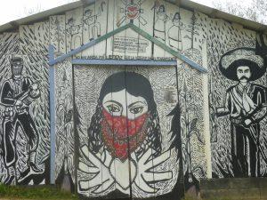 Mural nel Caracol di Oventic. Foto: O.B.